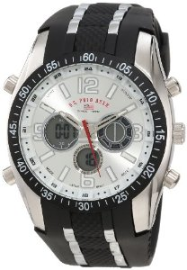 U.S. Polo Assn. Sport Men's US9061 Black Rubber Strap Analog Watch: Watches