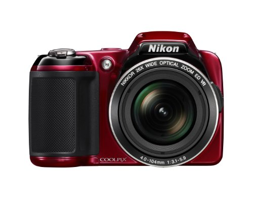 Nikon COOLPIX L810 16.1 MP Digital Camera with 26x Zoom NIKKOR ED Glass Lens and 3-inch LCD (Red): NIKON