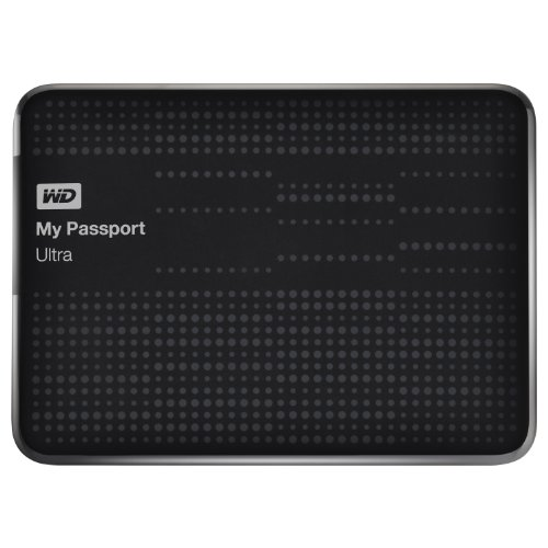 WD My Passport Ultra 2TB Portable External Hard Drive USB 3.0 with Auto and Cloud Backup - Black (WDBMWV0020BBK-NESN)