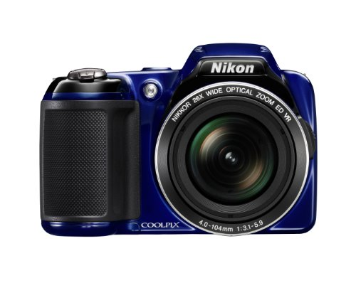 Nikon COOLPIX L810 16.1 MP Digital Camera with 26x Zoom NIKKOR ED Glass Lens and 3-inch LCD (Blue): NIKON