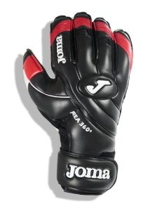 Joma AREA 360� Fingersave Protection Goalkeeper Gloves (Black/Red) - Size 8