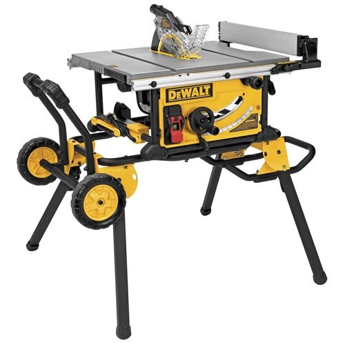 DEWALT DWE7491RS 10-Inch Jobsite Table Saw with 32-1/2-Inch Rip Capacity and Rolling Stand - Amazon.com