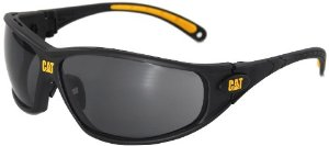 Caterpillar Tread Safety Glasses, Black and Yellow, Smoke - Amazon.com