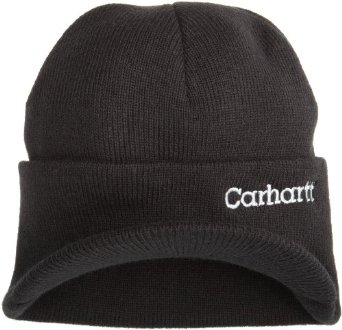 Carhartt Men's Knit Hat With Visor,  Black,  One Size
