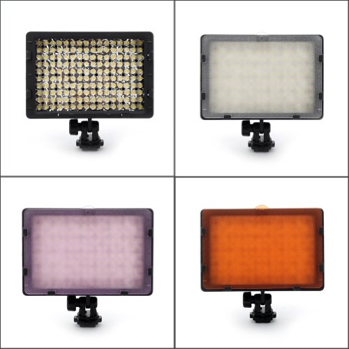 NEEWER� CN-160 160PCS LED Dimmable Ultra High Power Panel Digital Camera / Camcorder Video Light, LED Light for Canon, Nikon, Pentax, Panasonic, SONY, Samsung and Olympus Digital SLR Cameras