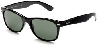 Ray-Ban RB2132 New Wayfarer  Sunglasses,Black Frame/G-15-XLT Lens,55 mm: Ray-Ban