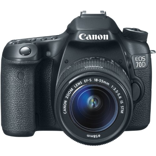 Canon EOS 70D 20.2 MP Digital SLR Camera with Dual Pixel CMOS AF and EF-S 18-55mm F3.5-5.6 IS STM Kit: CANON