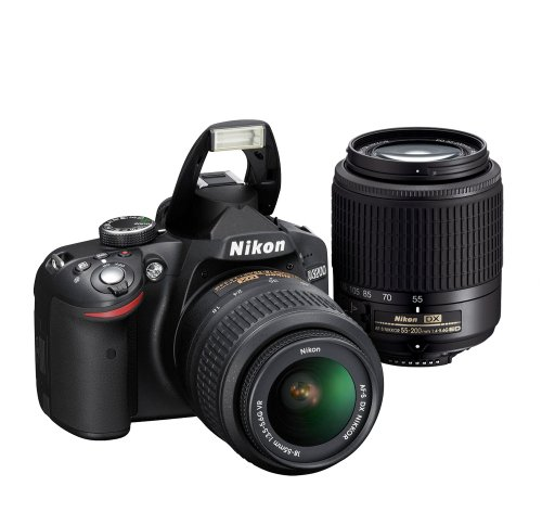 Nikon D3200 24.2 MP CMOS Digital SLR with 18-55mm VR and 55-200mm Non-VR DX Zoom Lenses: NIKON