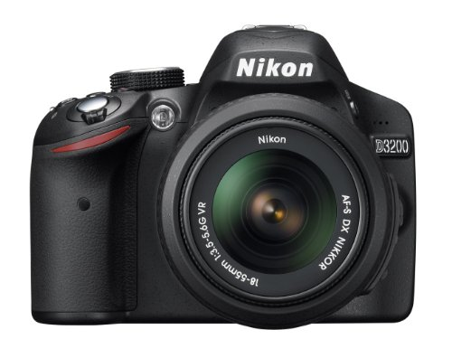 Nikon D3200 24.2 MP CMOS Digital SLR with 18-55mm f/3.5-5.6 AF-S DX VR NIKKOR Zoom Lens (Black) (OLD MODEL): NIKON
