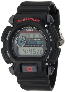 Casio Men's DW9052-1V G-Shock Black Stainless Steel and Resin Digital Watch: Watches