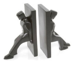 Amazon.com - Kikkerland Leaning Men Bookends, Set of 2 - Decorative Bookends