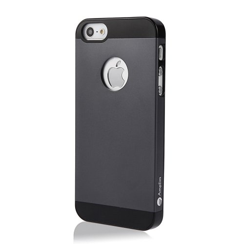 Amplim Alloy iPhone 5S/5 Premium Gray Aluminum Case: Anodized Aluminum + High Quality PC Slim Hard Case - (AT&T, Verizon, Sprint, T-Mobile) - Retail Packaging; Aug 2013 New Model For iPhone 5, iPhone 5S [Gray]
