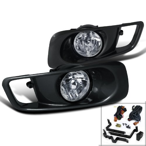 Honda Civic Ex Dx Lx Clear Oem Style Fog Lights, Switch, Relay : Amazon.com