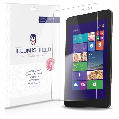 Amazon.com : iLLumiShield - Dell Venue 8 Pro Crystal Clear Screen Protectors with Anti-Bubble/Anti-Fingerprint - 2-Pack + Lifetime Replacements : Touch Screen Tablet Computer Screen Protectors