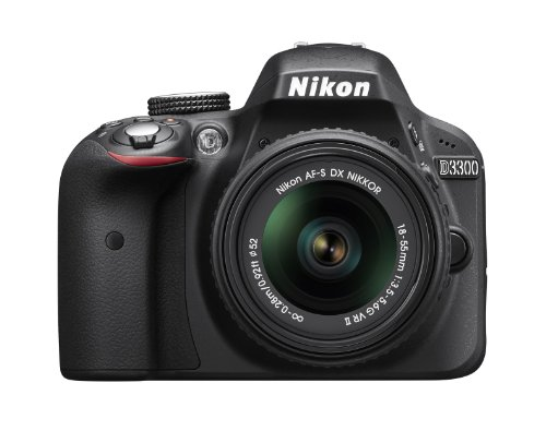 Nikon D3300 24.2 MP CMOS Digital SLR with AF-S DX NIKKOR 18-55mm f/3.5-5.6G VR II Zoom Lens (Black): NIKON