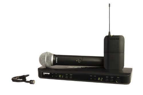 Shure BLX1288/PG85 Wireless Combo System with PG58 Handheld and PG185 Lavalier Microphones, H8