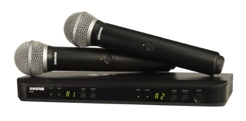 Shure BLX288/PG58 Wireless Vocal Combo with PG58 Handheld Microphones, J10