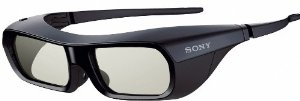Sony TDG-BR250/B Rechargeable 3D Adult Glasses, Black