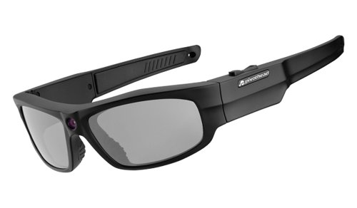 Pivothead 1080 HD 8MP Video Recording Camera Polarized Hand-Free Sunglasses, Durango Smoke