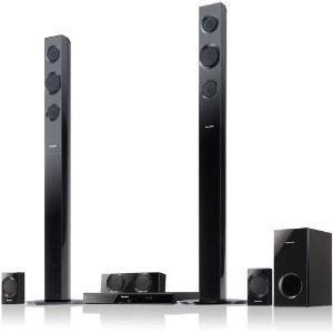 Panasonic SC-BTT195 Energy Star 5.1-Channel 1000-Watt Full HD 3D Blu-Ray Home Theater System with Tall Boy Speakers (2012 Model)