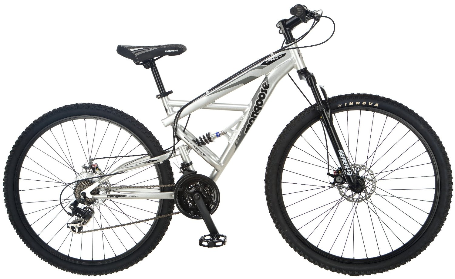 Amazon.com : Mongoose Impasse Dual Full Suspension Bicycle (29-Inch) : Dual Suspension Mountain Bicycles