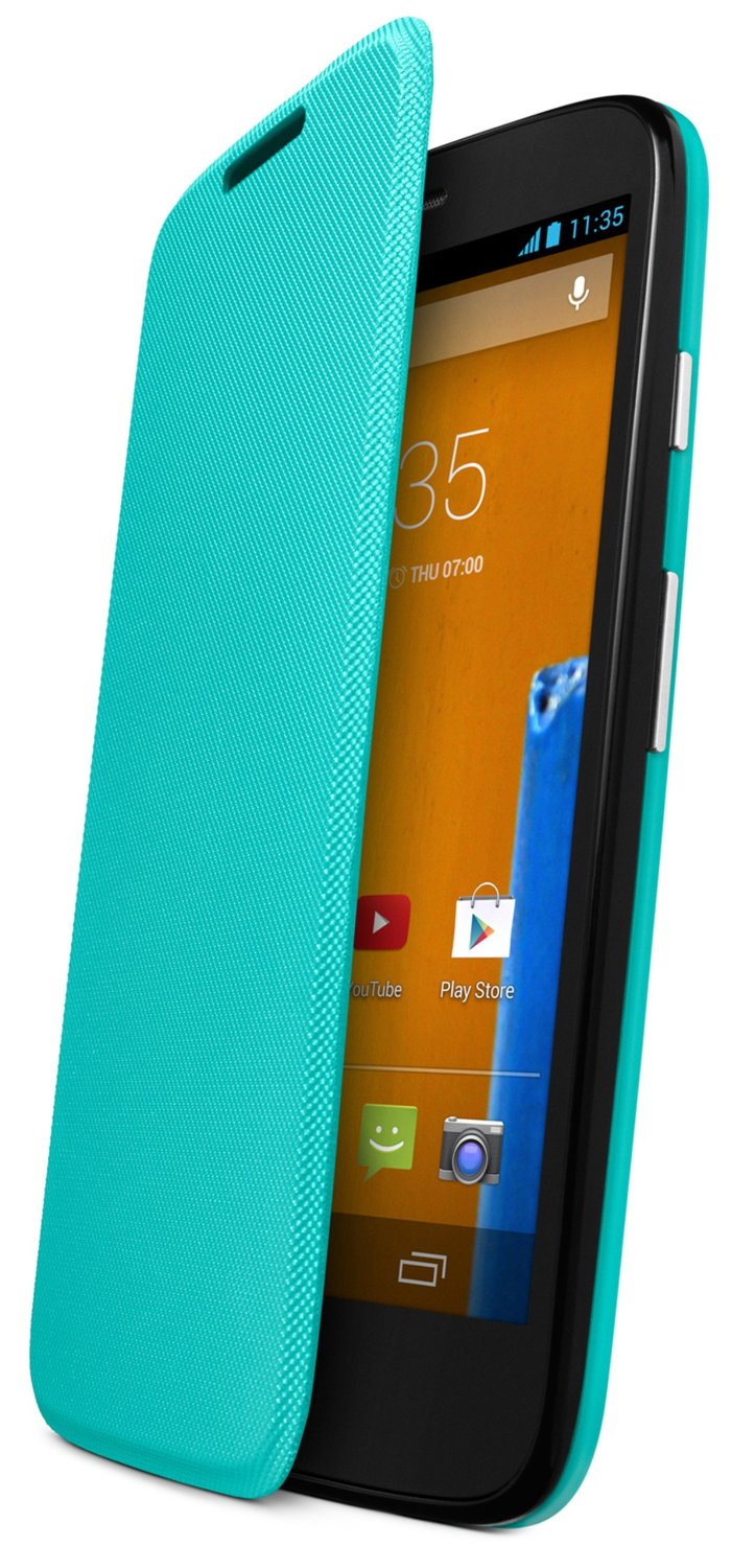 Motorola Flip Shell for Moto G - Retail Packaging - Turquoise