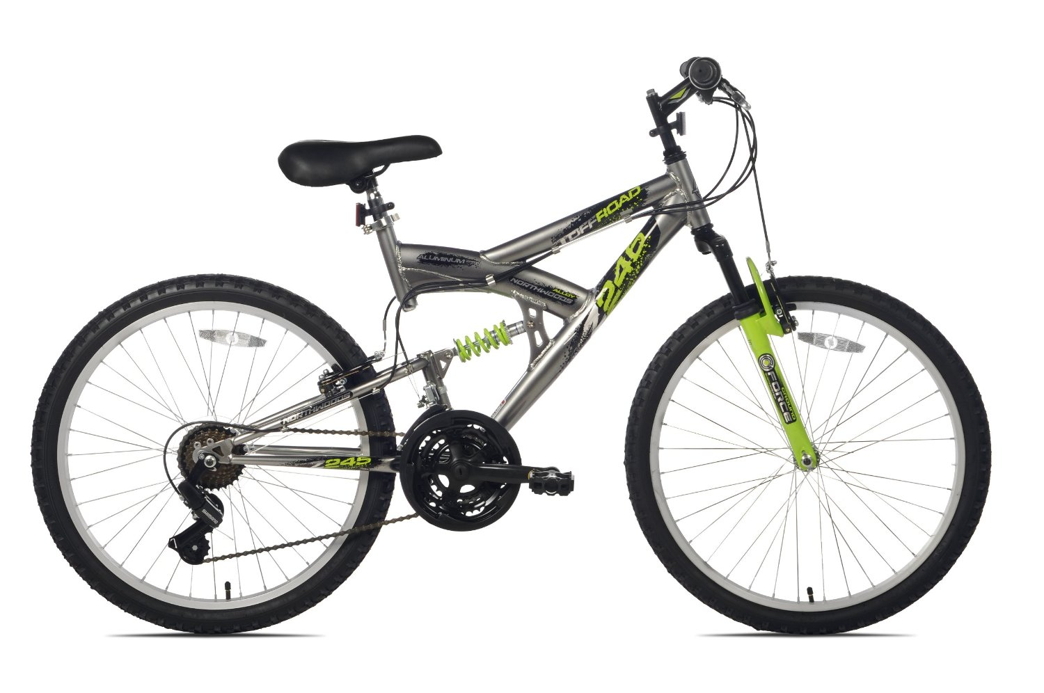 Amazon.com : Northwoods Aluminum Full Suspension Mountain Bike : Hardtail Mountain Bicycles