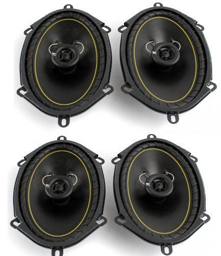 "Amazon.com : 2 Pairs KICKER DS68 6x8"" 2-Way Coaxial Car Audio Speakers 280 Watts Total 11DS68 : Component Vehicle Speaker Systems"