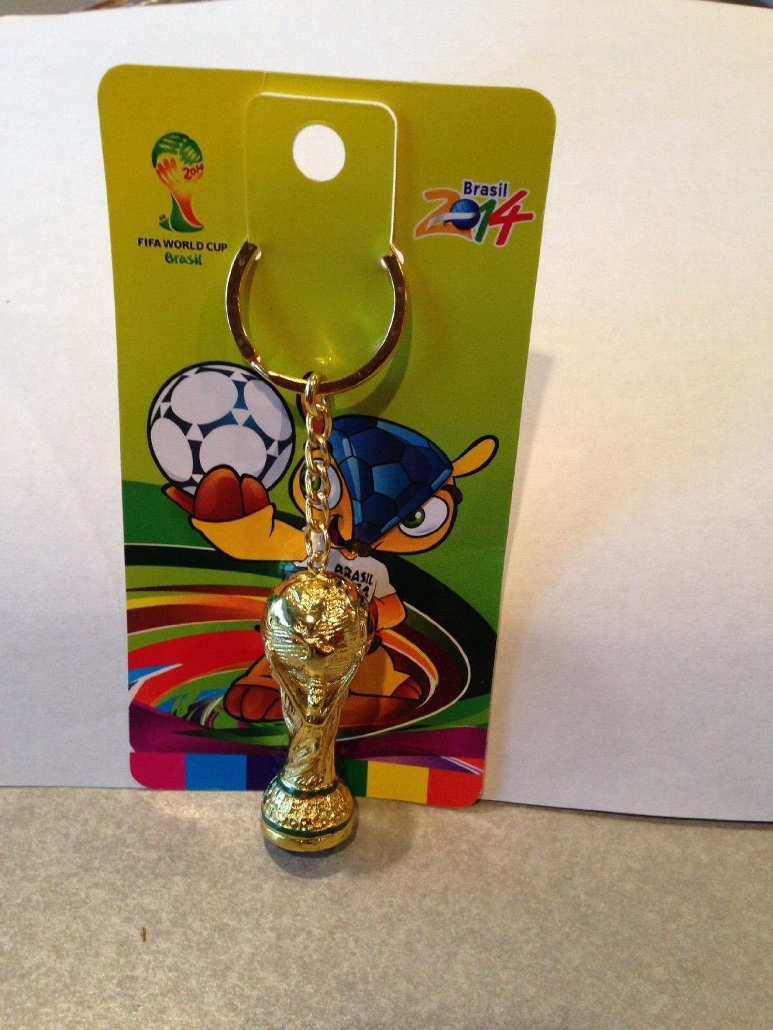 Amazon.com : FIFA 2014 Brazil WORLD CUP SOCCER MINI TROPHY KEYCHAIN : Other Products