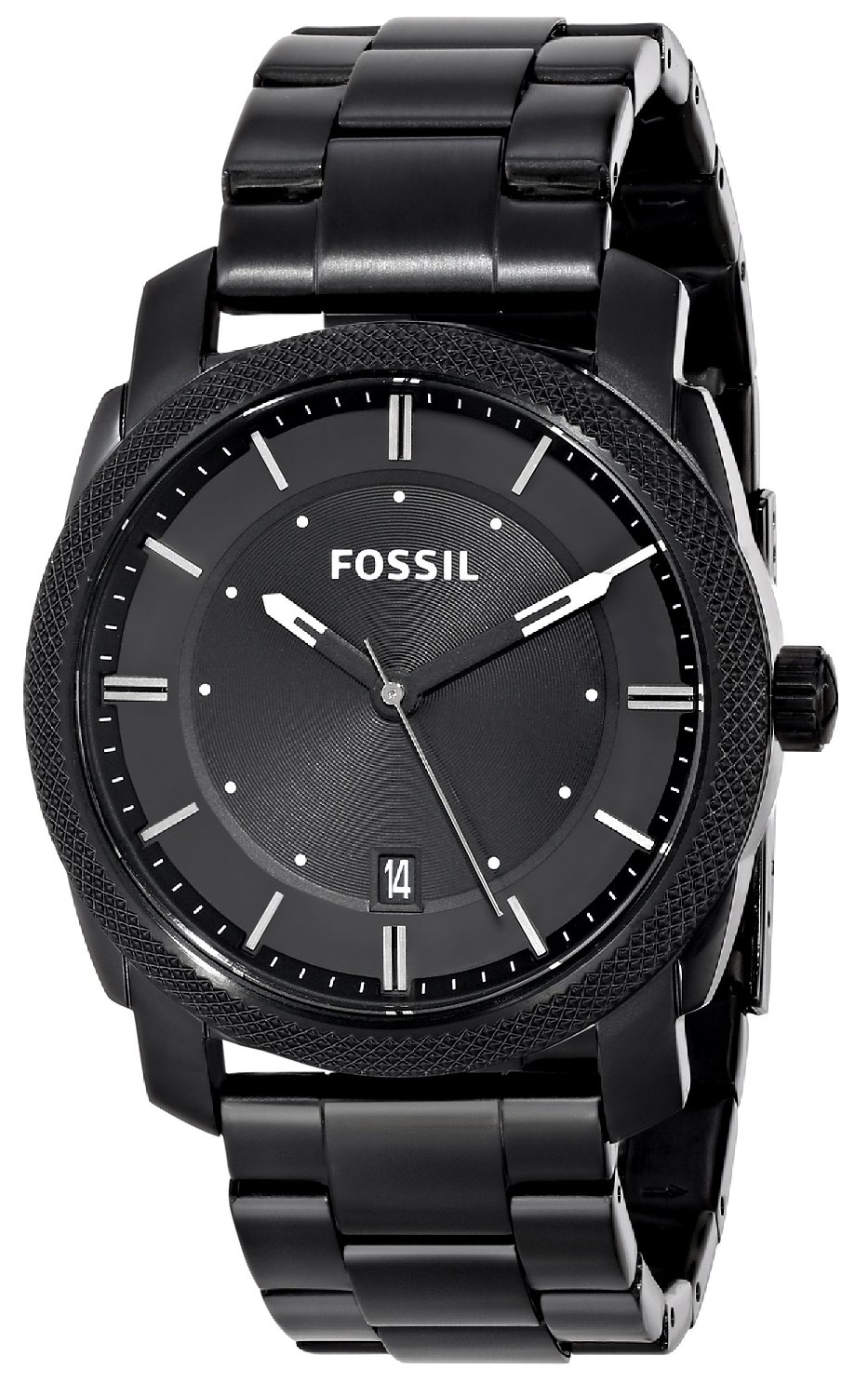 62a2444d1f62 Fossil FS4775 Machine Three Hand Stainless Steel Watch Black  Fossil