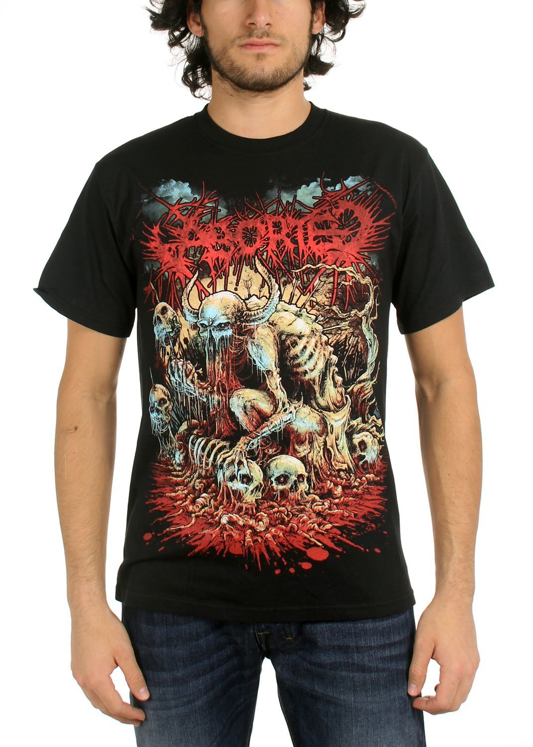 Aborted - Mens God Machine T-Shirt in Black: Music Fan T Shirts