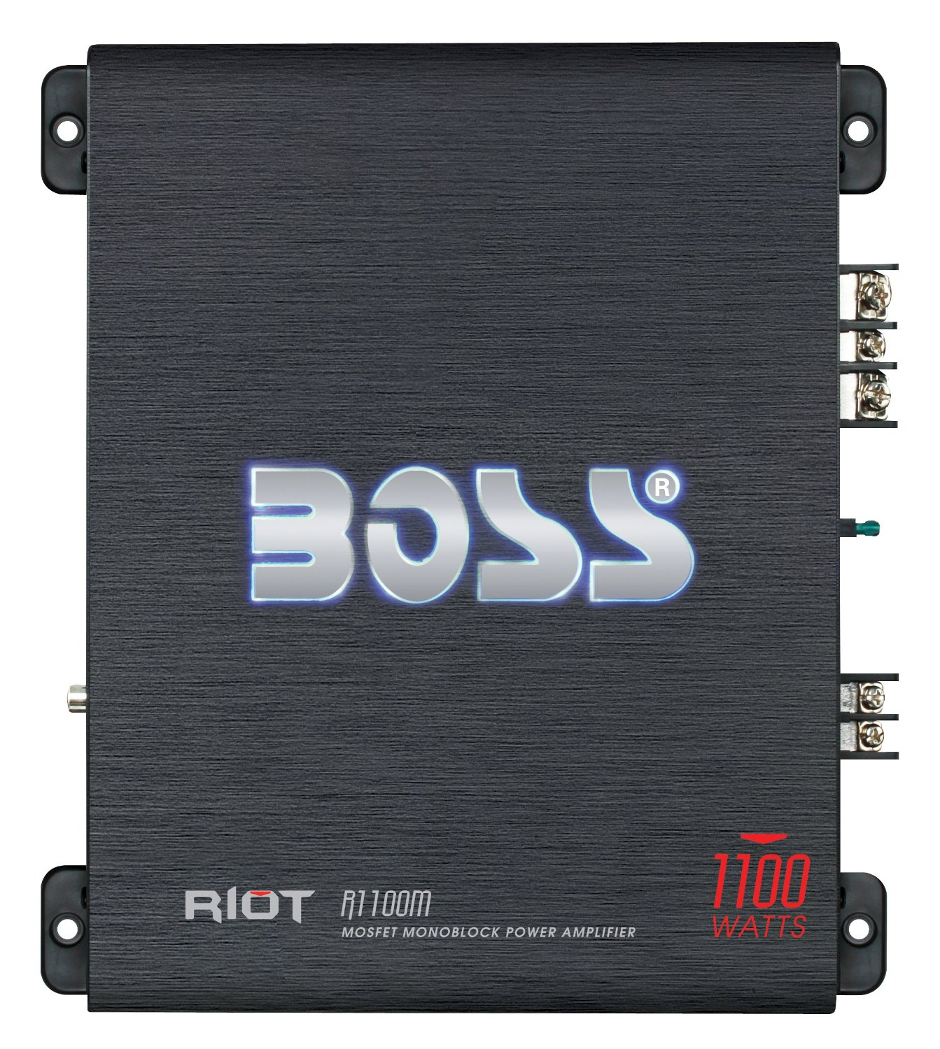 Amazon.com : BOSS Audio R1100M Riot 1100-watts Monoblock Class A/B 1 Channel 2-8 Ohm Stable Amplifier with Remote Subwoofer Level Control : Vehicle Mono Subwoofer Amplifiers