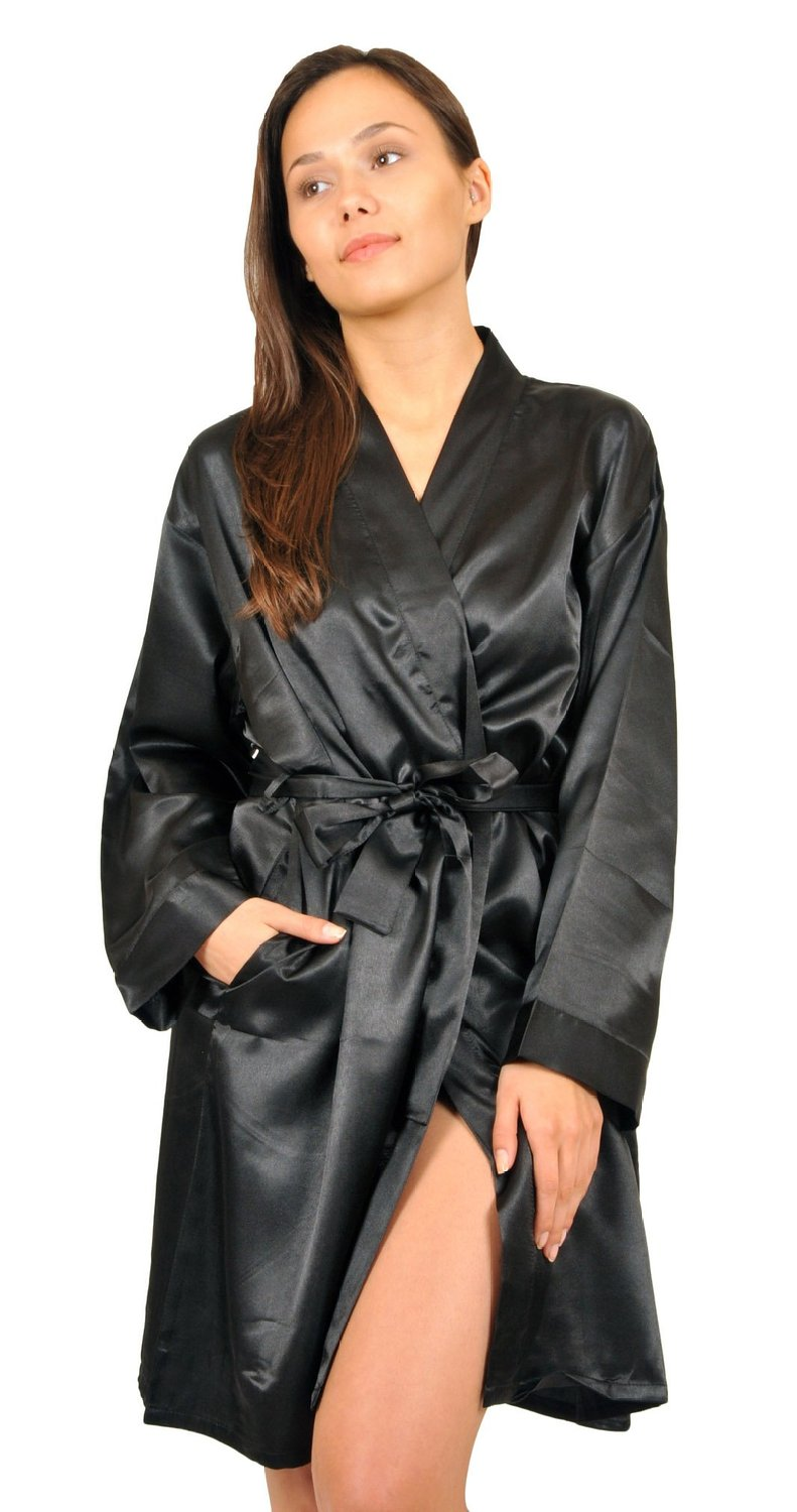 Up2date Fashion Women's Satin Charmeuse Robe at Amazon Women�s Clothing store