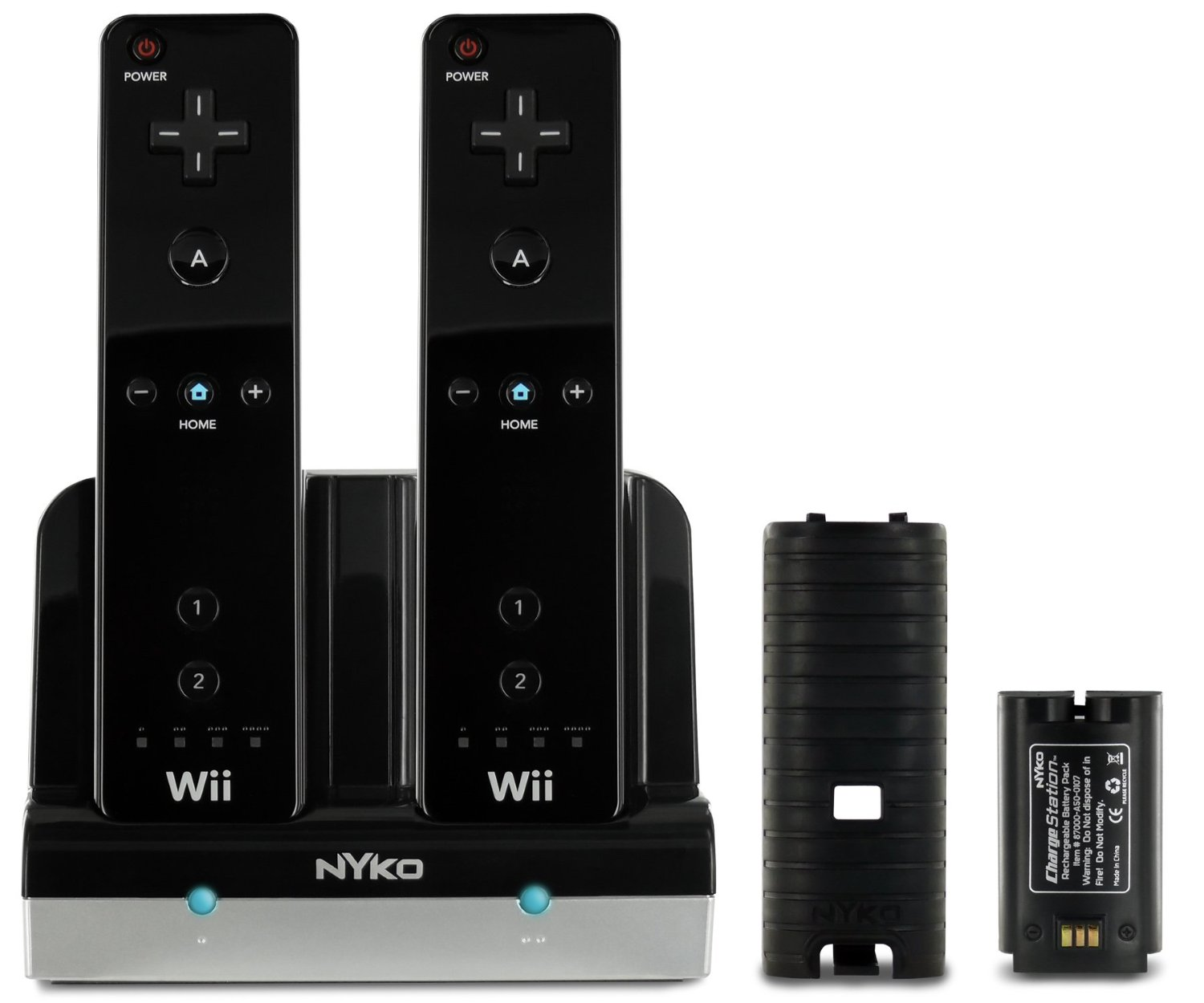 Nyko Charge Station for Wii/Wii U (Black): Nintendo Wii
