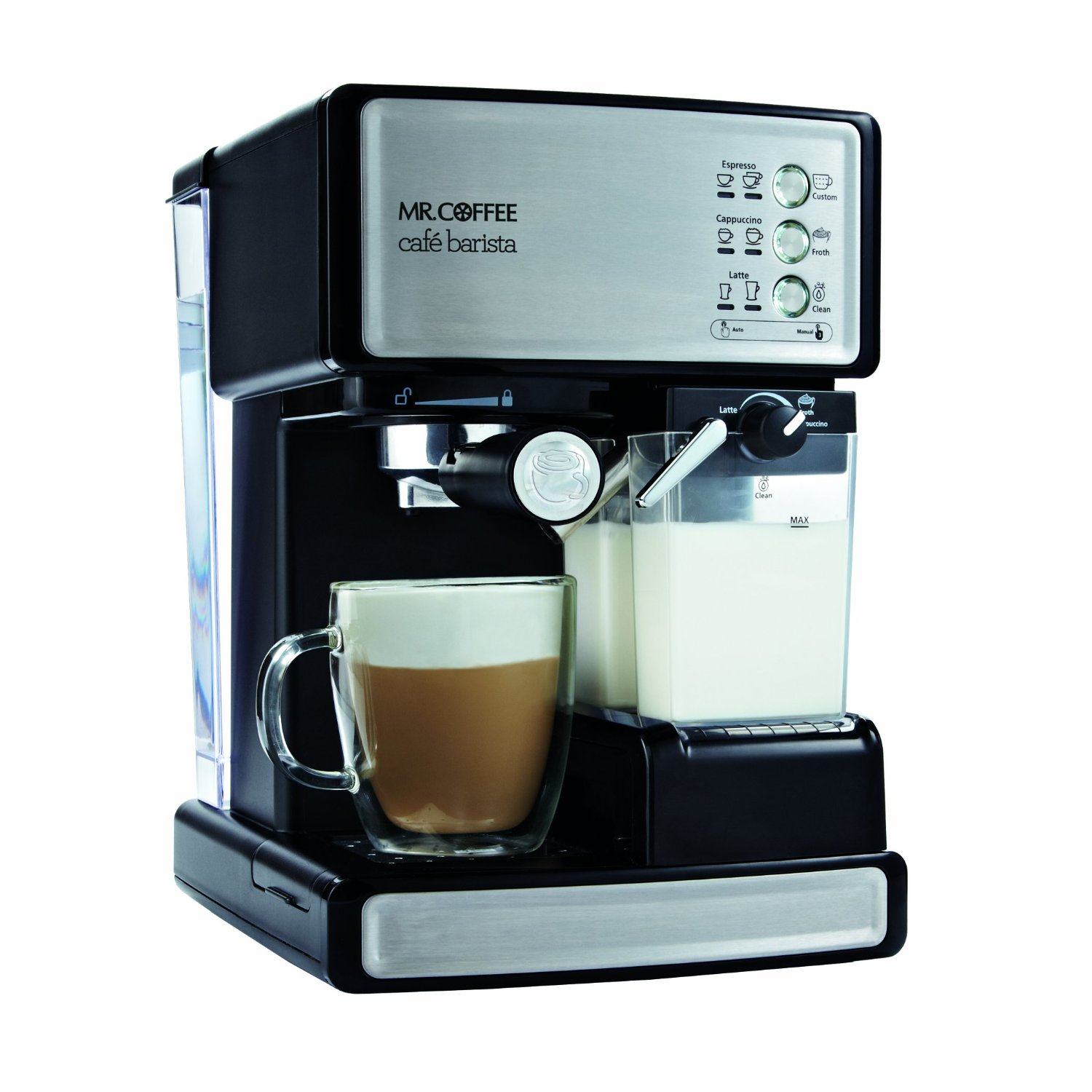 Mr. Coffee BVMC-ECMP1000 Caf� Barista Espresso Maker, Without Free Sample: Semi Automatic Pump Espresso Machines