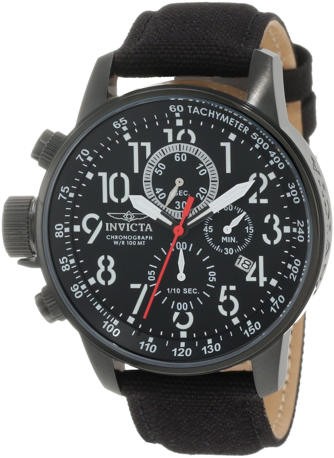 "Invicta Men's 1517 I ""Force"" Collection Stainless Steel and Cloth Strap Watch: Invicta"