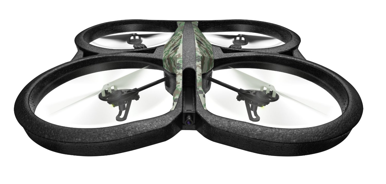 Parrot AR.Drone 2.0 Elite Edition Quadricopter - Wifi - Free App iOS & Android - Record HD 720p movies - Jungle