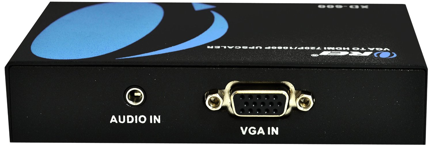Orei VGA-HDMI VGA Audio to HDMI Video Projector Converter Adapter Box