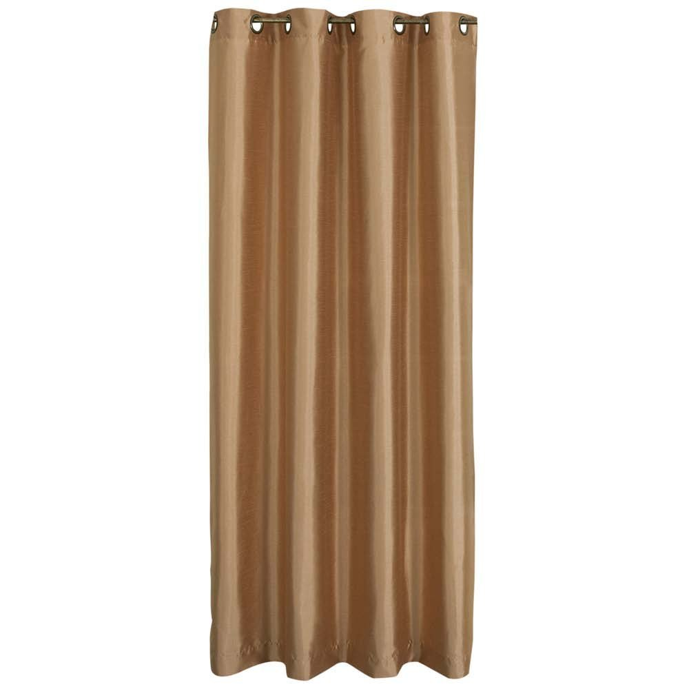 Amazon.com - Stylemaster Tribeca 56 by 63-Inch Faux Silk Grommet Panel, Truffle - Window Treatment Panels
