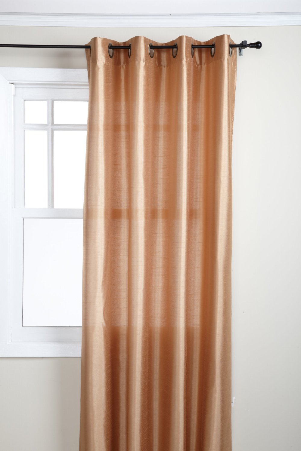 Amazon.com - Stylemaster Tribeca 56 by 84-Inch Faux Silk Grommet Panel, Truffle - Window Treatment Panels