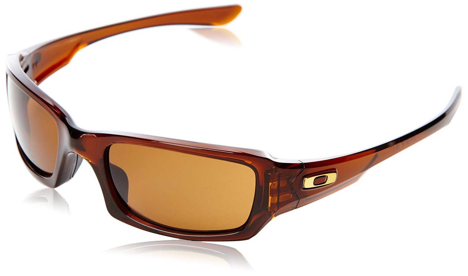 Oakley Fives Squared Polished Rootbeer / Dark Bronze Lens Mens Sunglasses: Oakley