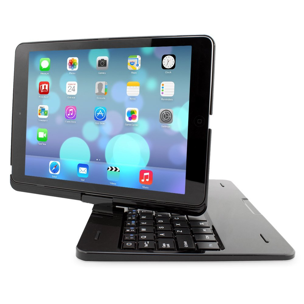 Snugg iPad Air 360 Degree Rotatable Keyboard Case - High Quality Cover with Ultra Slim Swivel Bluetooth Keyboard - Apple iPad 360 Degree Rotating Keyboard Compatible with iPad Air - Lightweight, Quality and Easy to Set up!
