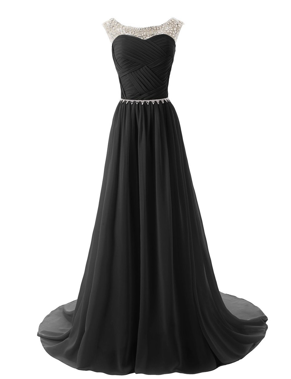 Dressystar Beaded Straps Bridesmaid Prom Dresses with Sparkling Embellished Waist at Amazon Women's Clothing store