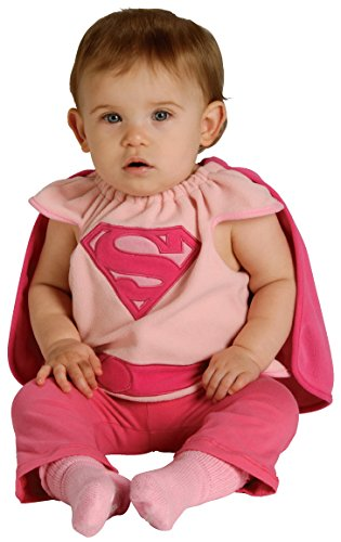 Rubie's Costume Co Baby Girl's DC Superheroes Supergirl Deluxe Bib, Multi, One Size: Infant And Toddler Costumes