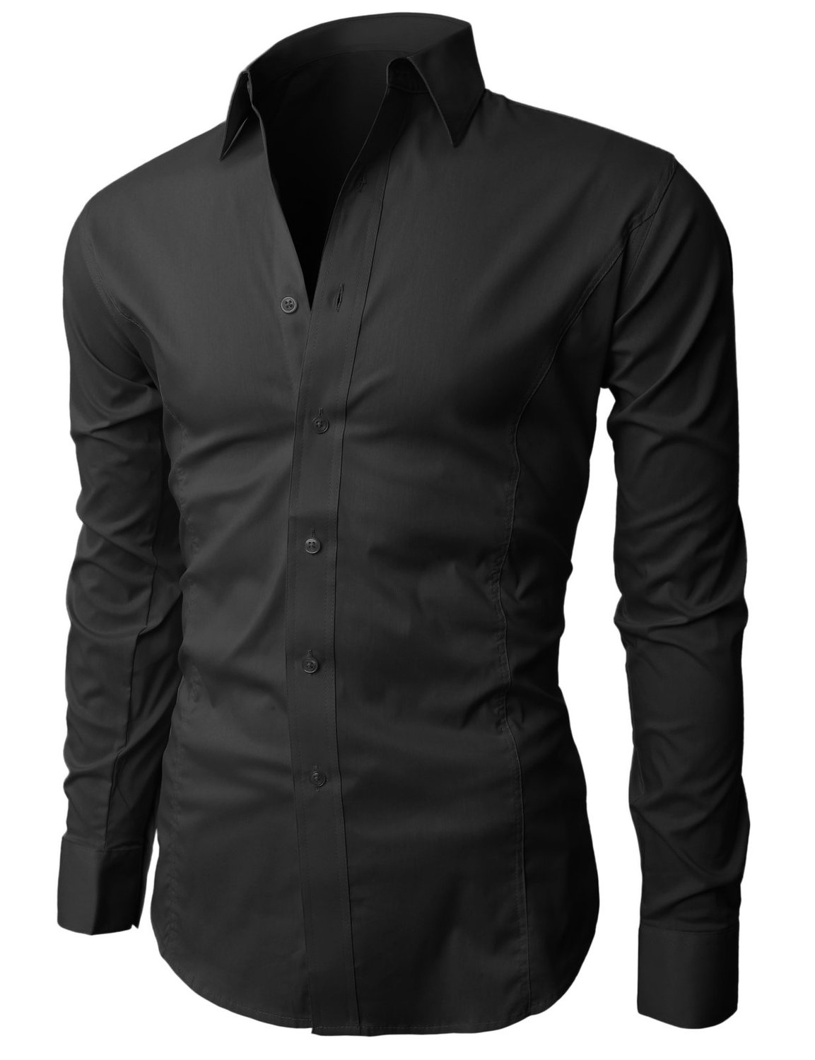 H2H Mens Wrinkle Free Slim Fit Dress Shirts with Solid Long Sleeve at Amazon Men's Clothing store