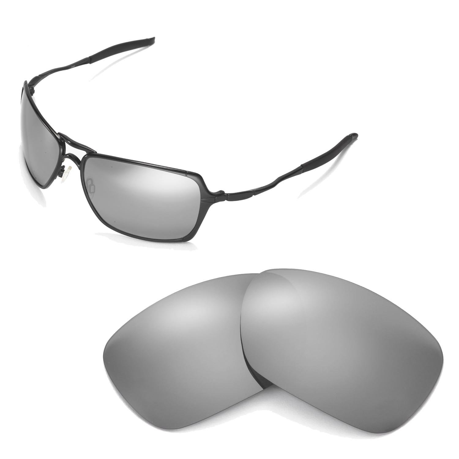 Amazon.com : Walleva Replacement Lenses for Oakley Inmate Sunglasses - Multiple Options Available (Titanium Mirror Coated - Polarized) : Sports Fan Shot Glasses