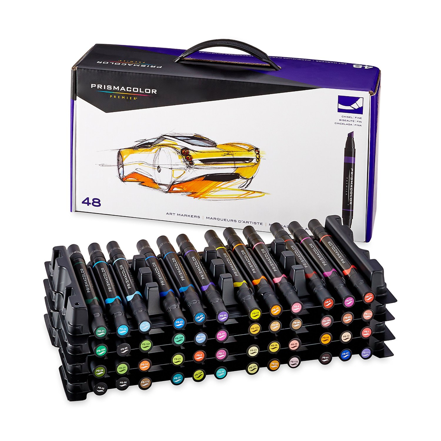 Prismacolor Premier Double Ended Art Markers, 48 Colored Markers(3611)