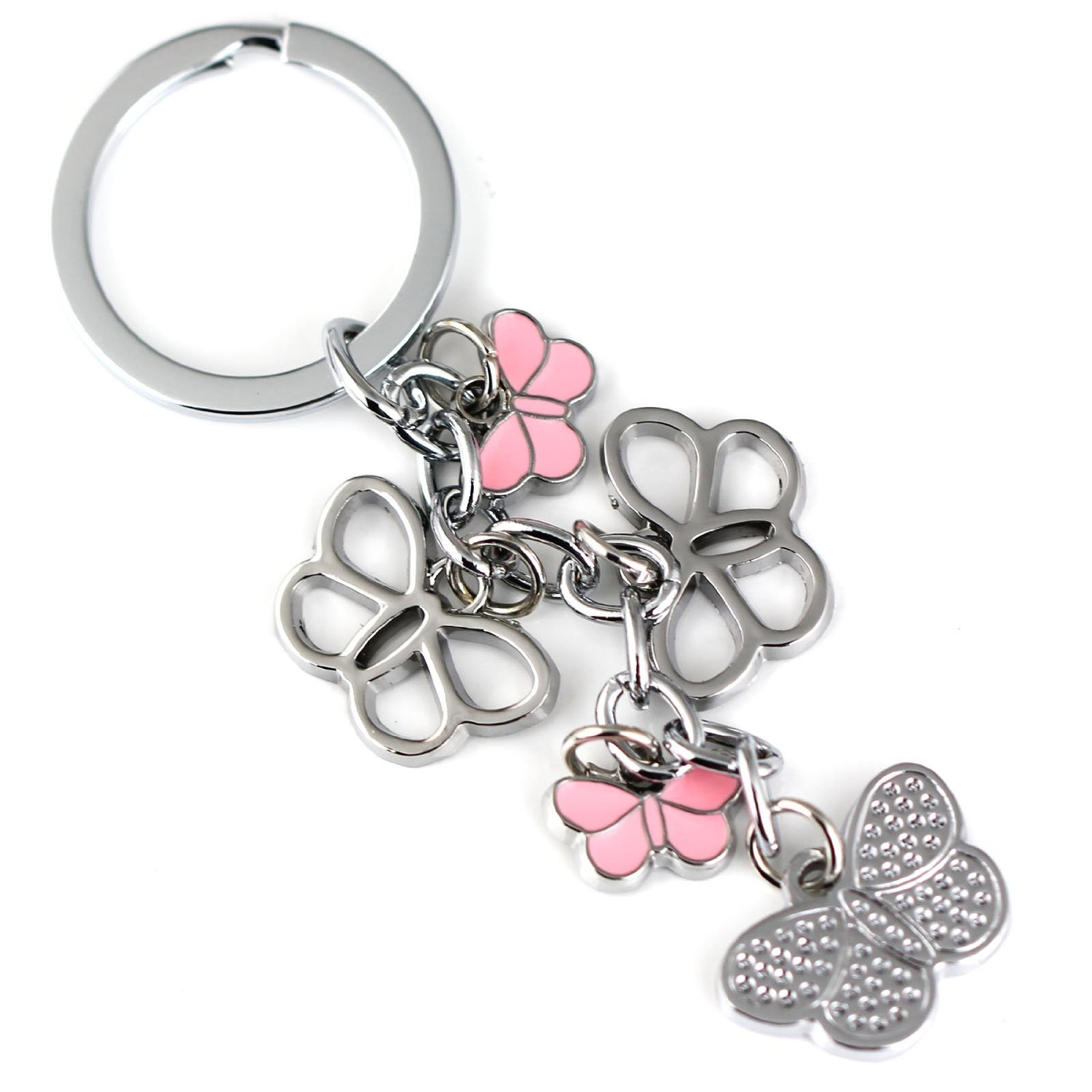Amazon.com - Maycom® Colorful Butterfly Keychain Key Chain Ring Keyring Keyfob (Pink) -