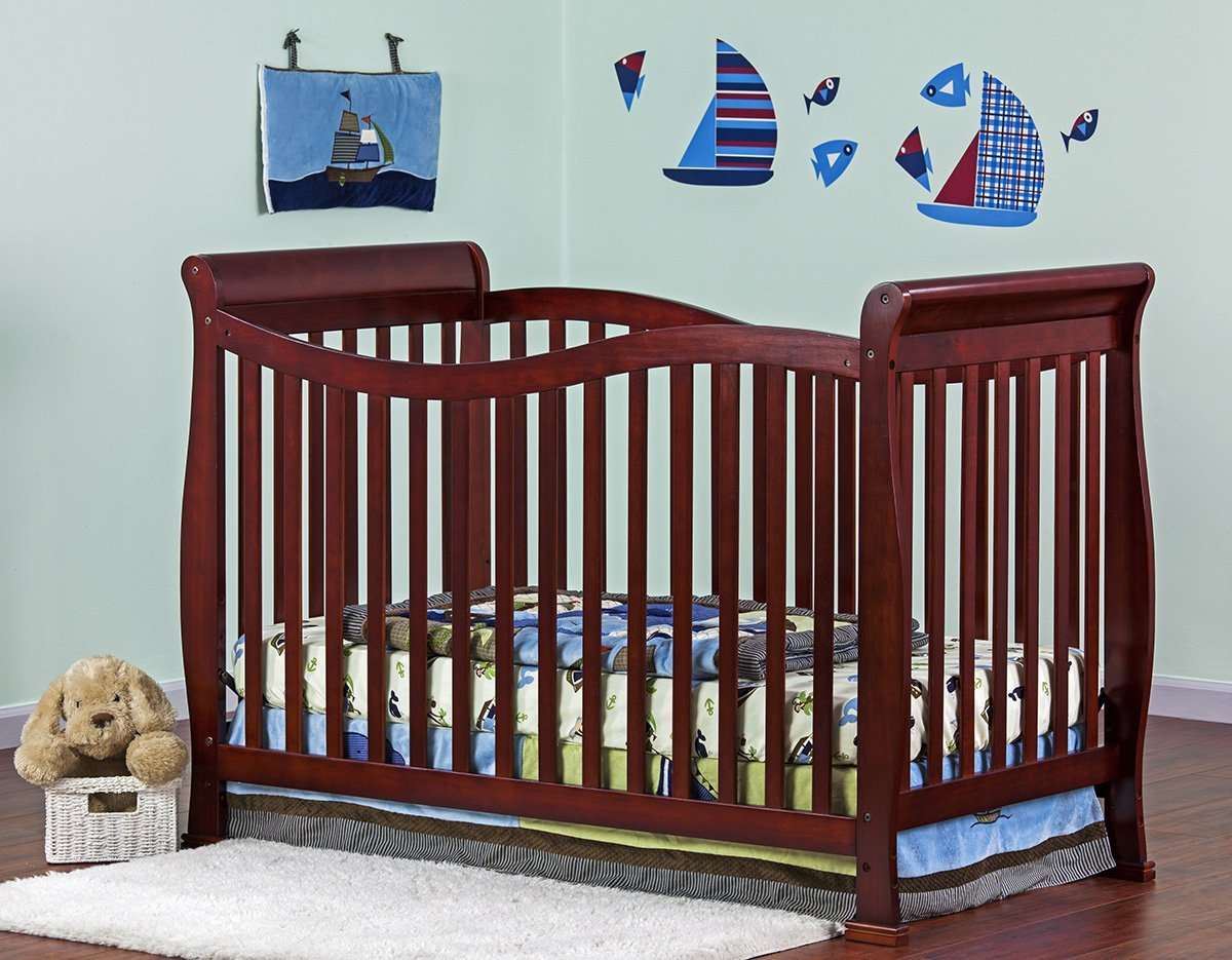 Amazon.com : Dream On Me Violet 7 in 1 Convertible Life Style Crib, Cherry