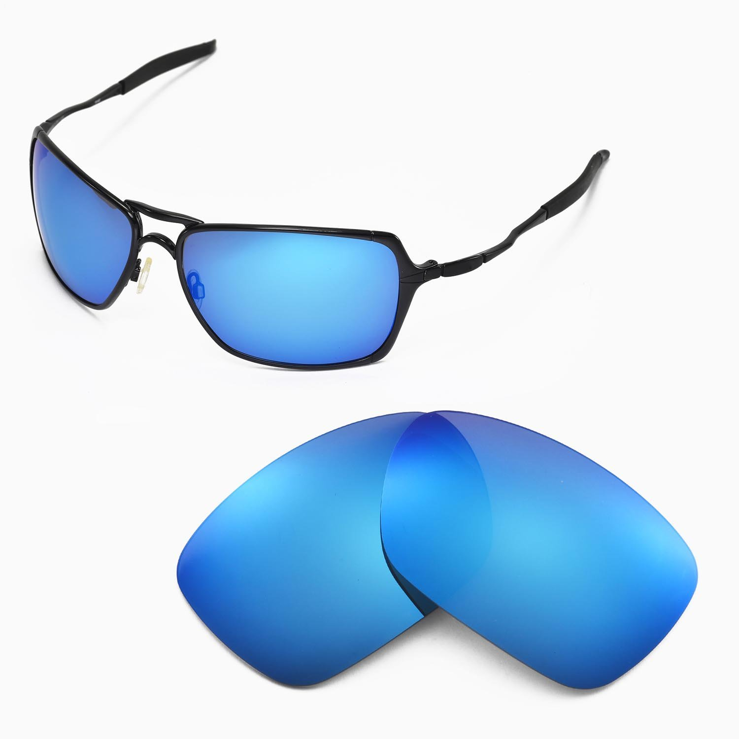 Amazon.com : Walleva Replacement Lenses for Oakley Inmate Sunglasses - Multiple Options Available (Ice Blue Coated - Polarized) : Sports Fan Shot Glasses
